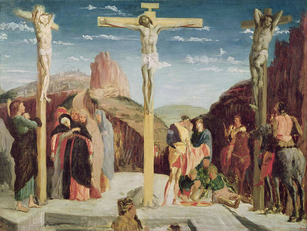 Life After Life Wall Art - Painting - Calvary by Andrea Mantegna