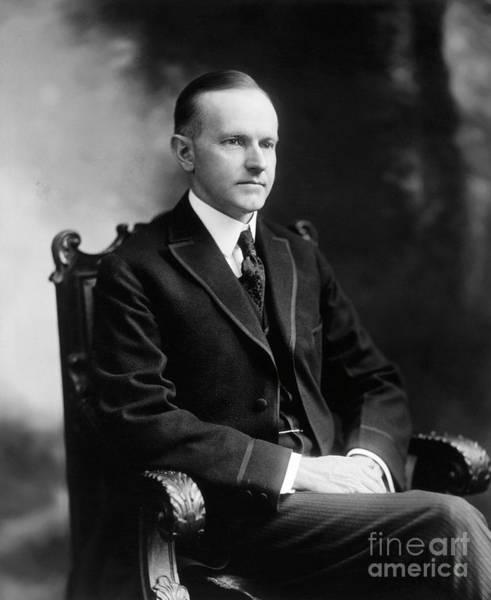 Photograph - Calvin Coolidge by Granger
