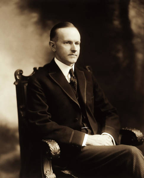Republican Party Photograph - Calvin Coolidge Portrait by War Is Hell Store