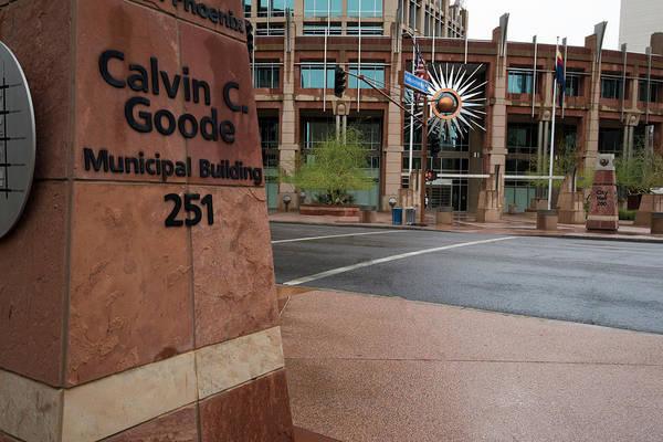 Photograph - Calvin Goode Municipal Building Phoenix Az by Dave Dilli