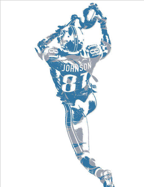 Lion Mixed Media - Calvin Johnson Detroit Lions Pixel Art 6 by Joe Hamilton