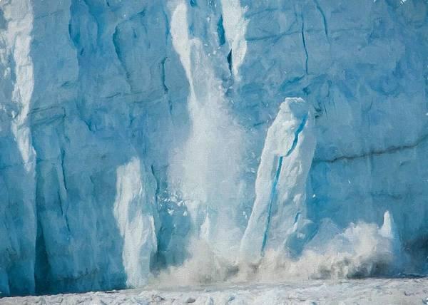 Digital Art - Glacier Calving Icebergs by Charmaine Zoe
