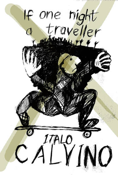 Drawing - Calvino Traveller Poster  by Paul Sutcliffe