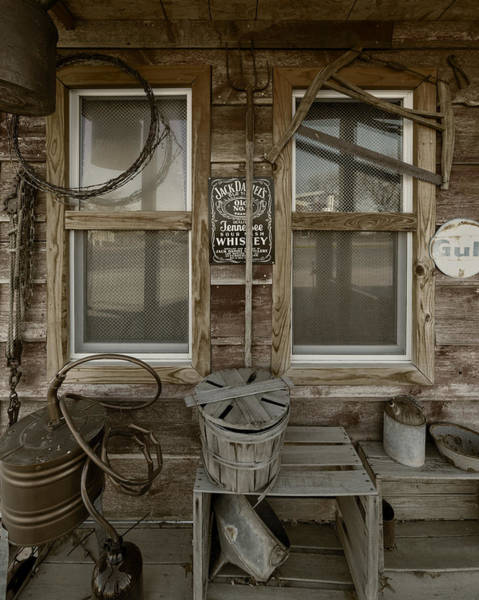 Photograph - Calvins Garage In Deshler Nebraska by Art Whitton