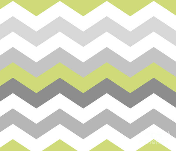 Art Nouveau Wall Art - Painting - Calyx Chevron Pattern by Mindy Sommers