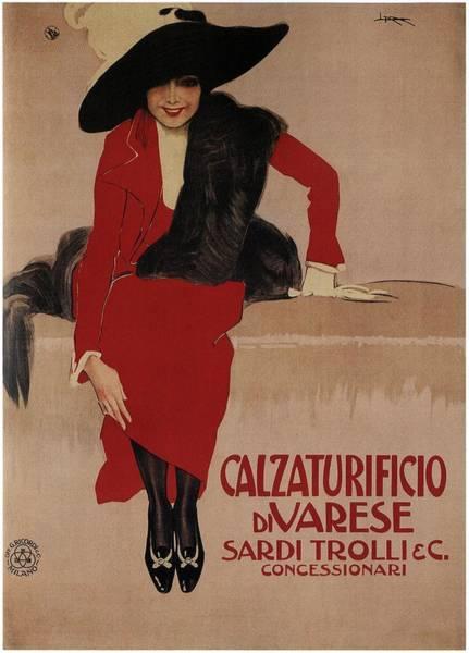 Product Mixed Media - Calzaturificio Di Varese - Shoe Factory - Vintage Advertising Poster by Studio Grafiikka