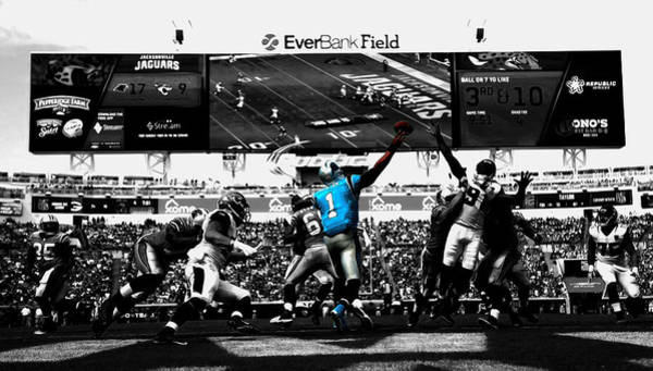 Aaron Rodgers Mixed Media - Cam Newton 2f by Brian Reaves