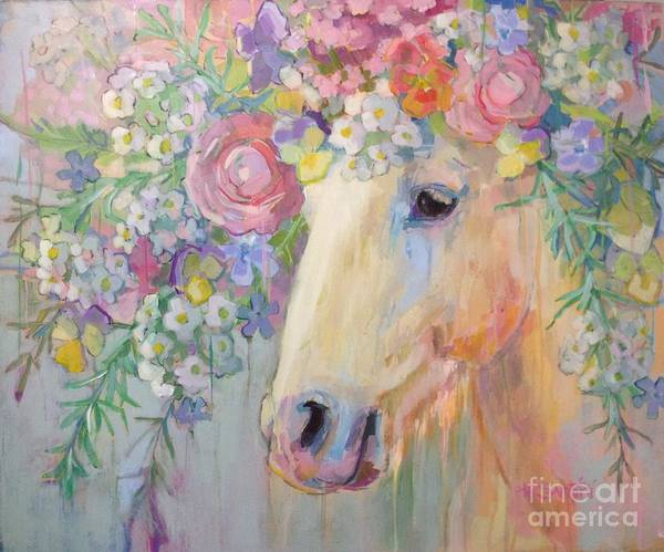 Wild Horse Painting - Camargue Peace by Kimberly Santini