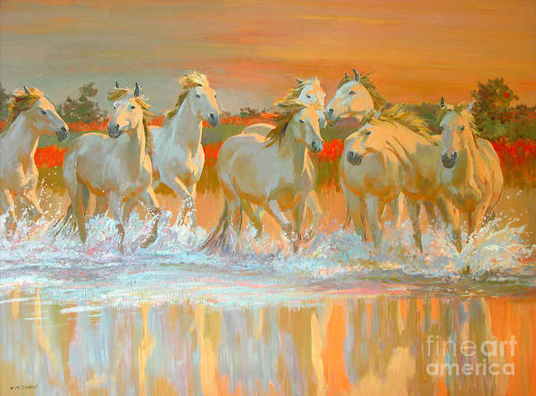 Wall Art - Painting - Camargue  by William Ireland