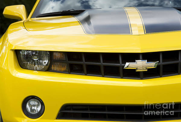 Wall Art - Photograph - Camaro In Yellow by Tim Gainey