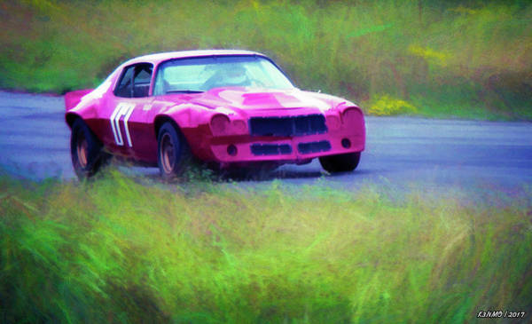 Quick Digital Art - Camaro Road Racer by Ken Morris