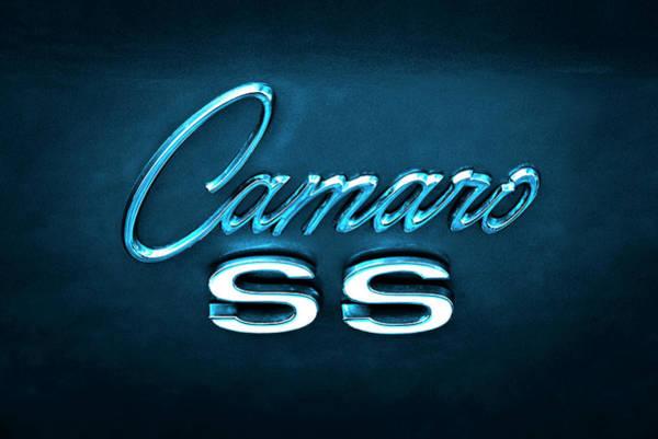 Chevy Wall Art - Photograph - Camaro S S Emblem by Mike McGlothlen