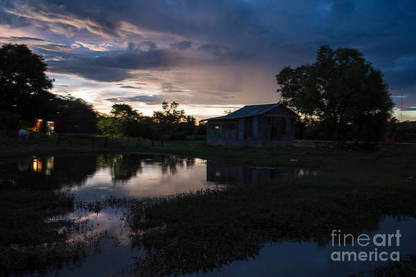Angkor Wall Art - Photograph - Cambodia Countryside Dramatic Sunset by Mike Reid