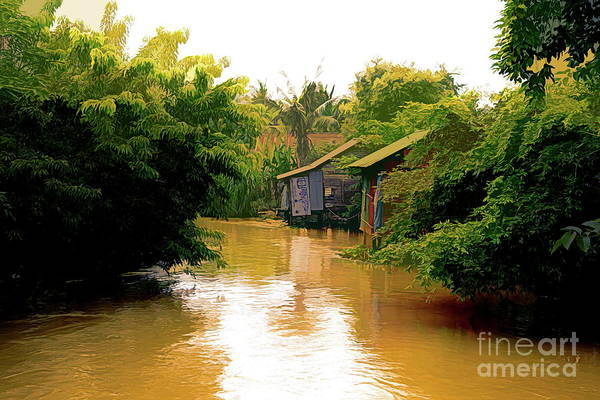 Mud House Photograph - Cambodia Home Along Siem Reap River  by Chuck Kuhn