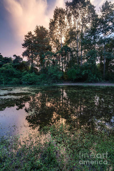 Angkor Wall Art - Photograph - Cambodian Backwater Cloudscape by Mike Reid
