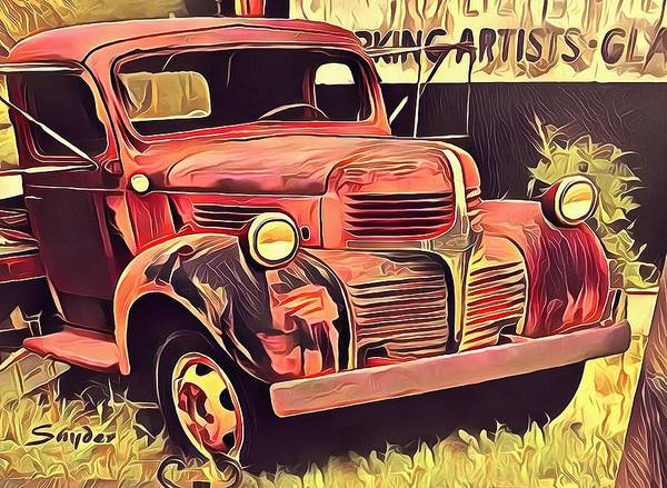 Photograph - Cambria Abandoned Truck by Floyd Snyder