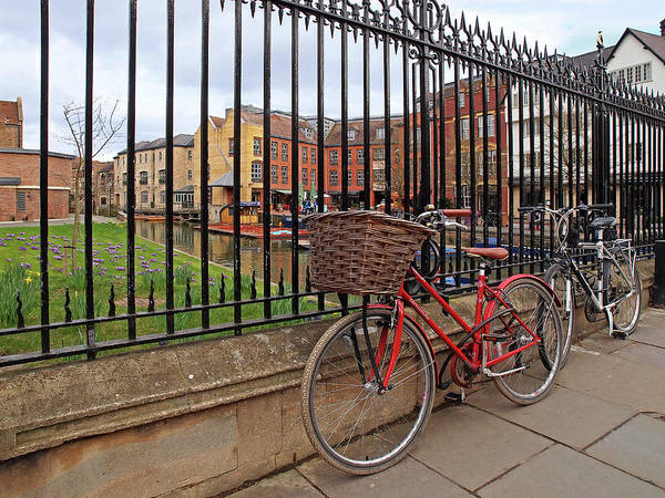 Photograph - Bicycles On Magdalene Bridge Cambridge by Gill Billington