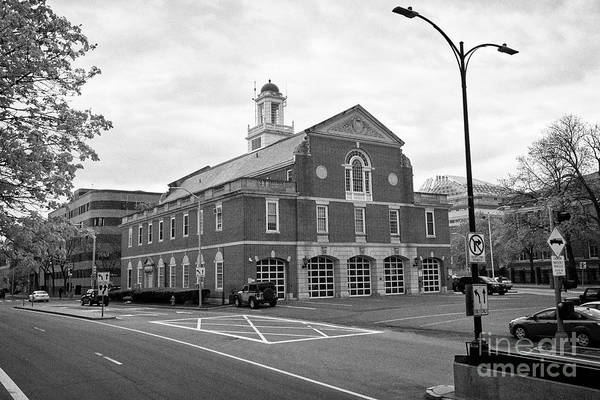 Wall Art - Photograph - cambridge fire department headquarters building Boston USA by Joe Fox