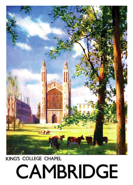 Wall Art - Painting - Cambridge, King College Chapel, England by Long Shot
