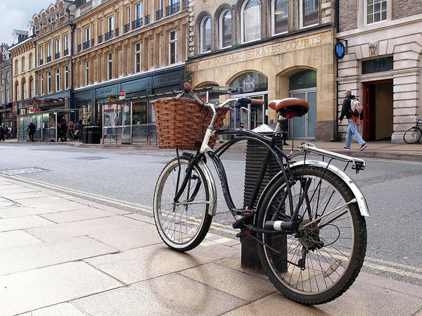 Photograph - The Wheels Of Justice - Bicycle At Cambridge Magistrates Court by Gill Billington