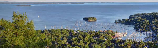 Photograph - Camden Harbor, Camden, Maine  -33769-33774 by John Bald