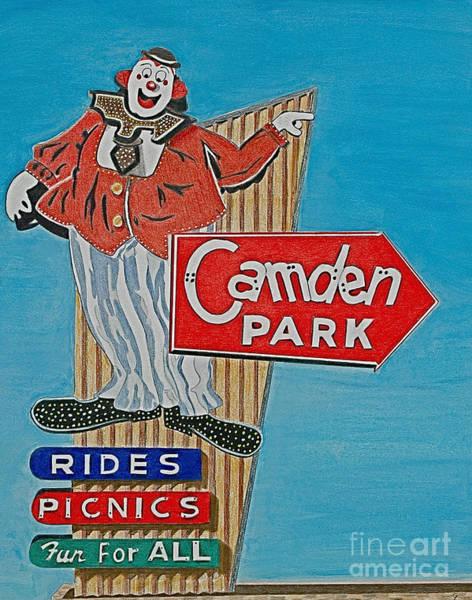 Neon Drawing - Camden Park by Glenda Zuckerman