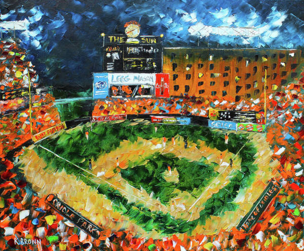 Painting - Camden Yards by Kevin Brown
