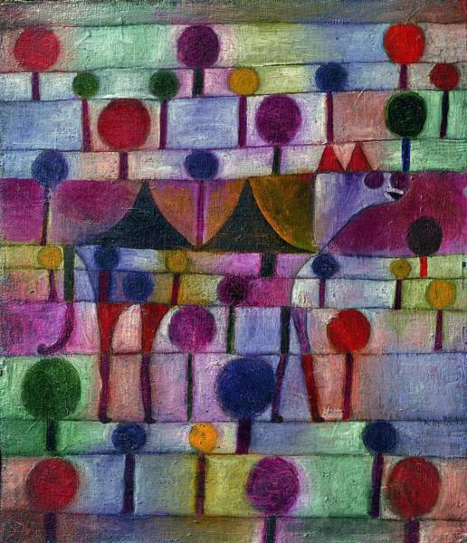 Painting - Camel In Rhythmic Wooded Landscape by Paul Klee