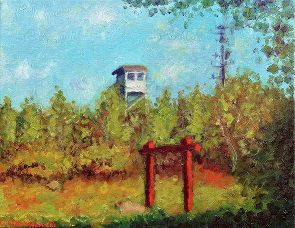 11x14 Painting - Big Pocono Fire Tower by Jason Williamson