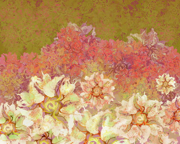 Mixed Media - Camellia Hedges by Kristin Doner