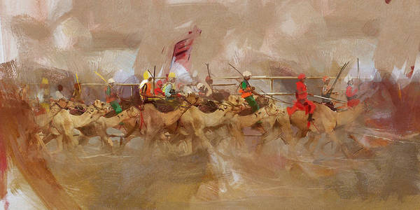 Camel Rider Painting - Camels And Desert 10 by Mahnoor Shah
