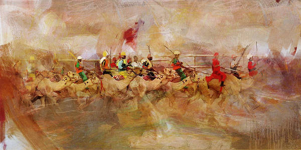 Camel Rider Painting - Camels And Desert 10c by Mahnoor Shah