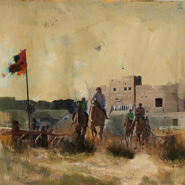 Camel Rider Painting - Camels And Desert 31 by Mahnoor Shah