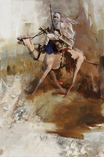 Camel Rider Painting - Camels And Desert 7 by Mahnoor shah