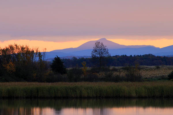 Wall Art - Photograph - Camel's Hump Mountain From Dead Creek by John Burk