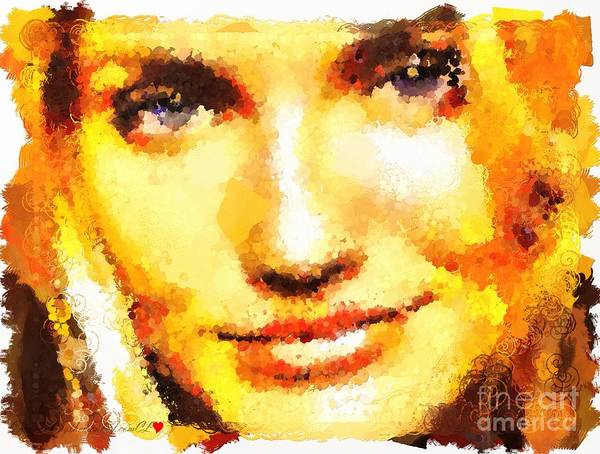 Painting - Cameron Diaz Hotty Totty Style Dot To Dot by Catherine Lott