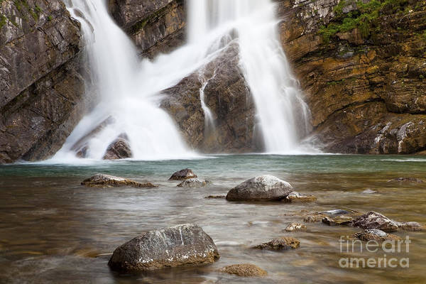 Photograph - Cameron Falls In Waterton Lakes National Park by Bryan Mullennix