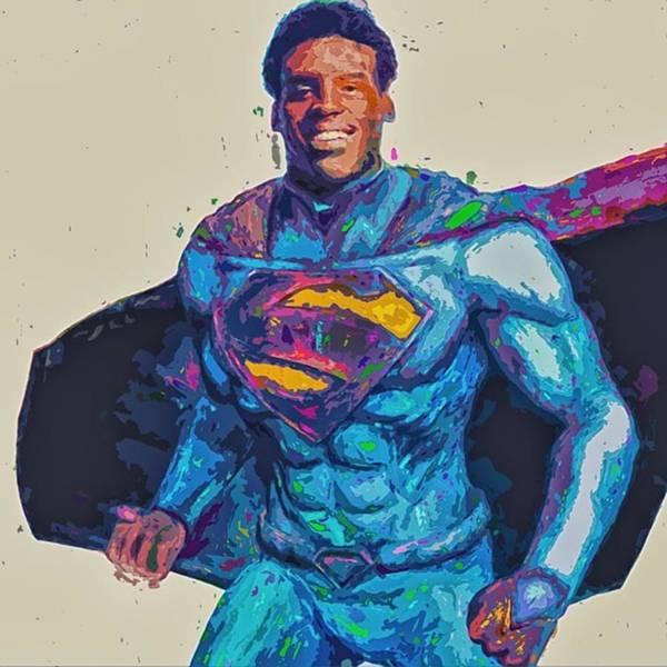 Superhero Wall Art - Photograph - @cameron1newton #superbowl50 #2016 #art by David Haskett II
