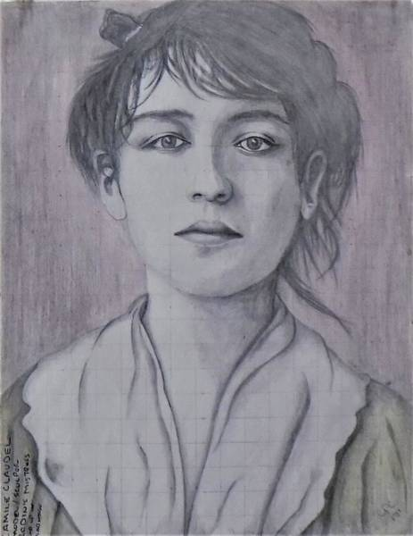 Drawing - Camile Claudel by Chuck Caputo