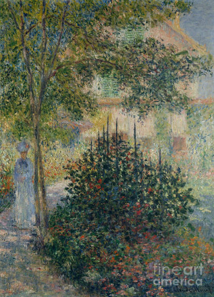 Wall Art - Painting - Camille Monet In The Garden At Argenteuil, 1876 by Claude Monet