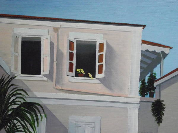 Us Virgin Islands Painting - Camille Pissaro Courtyard by Robert Rohrich