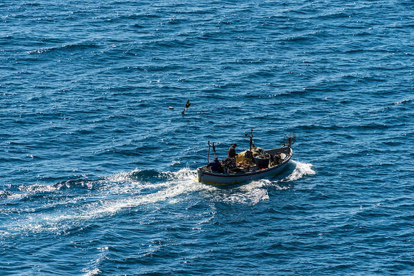 Photograph - Camogli Fishermen Boat by Enrico Pelos