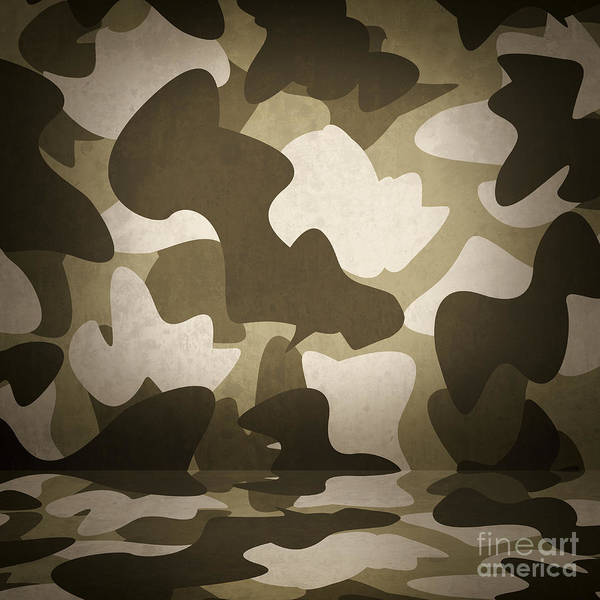 Special Forces Wall Art - Photograph - Camouflage Military Interior Background by Jorgo Photography - Wall Art Gallery