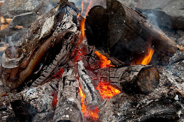 Camping Wall Art - Photograph - Camp Fire by Melissa Wyatt