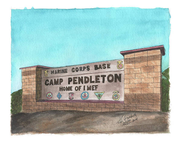 Painting - Camp Pendleton Welcome by Betsy Hackett
