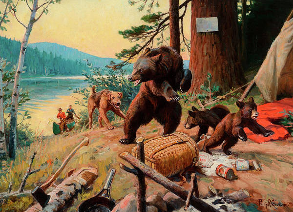 Wall Art - Painting - Camp Robbers by Philip R Goodwin