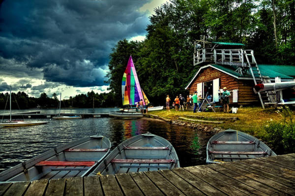Photograph - Camp Russell Boathouse On White Lake by David Patterson
