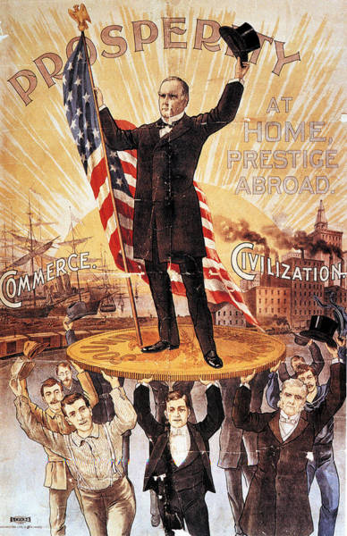 1896 Photograph - Campaign Poster, 1896 by Granger