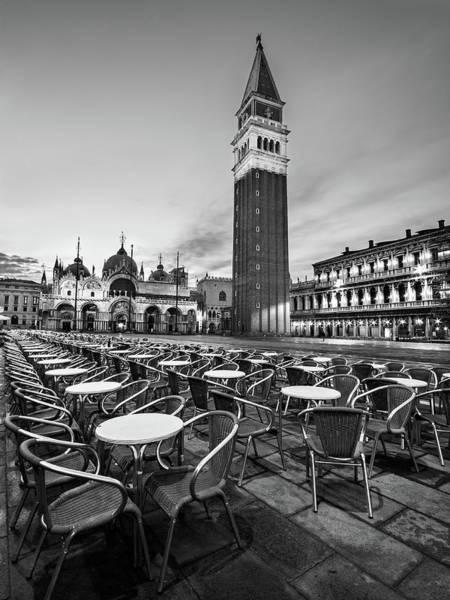 Photograph - Campanile And Basilica San Marco At Dawn - Venice by Barry O Carroll