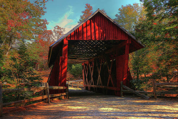 Photograph - Campbell Covered Bridge In Glow by Frank Montoya